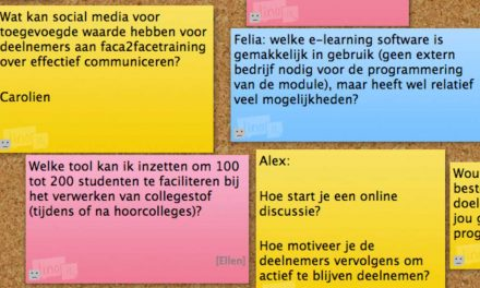 Online activiteiten in aanloop naar een workshop of training