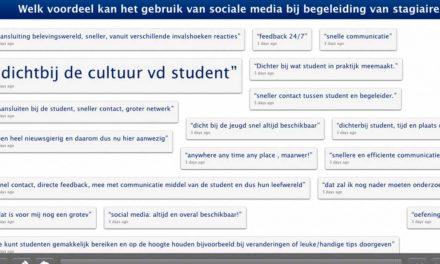 Rol voor sociale media bij stagebegeleiding?